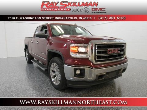 Pre-Owned 2014 GMC Sierra 1500 4WD Double Cab 143.5 SLT